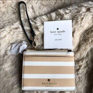 Kate Spade Hyde Lane Stripe Mellody Card Case
